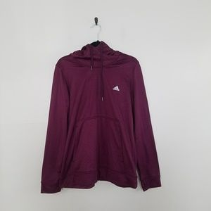 Adidas climawarm purple long sleeve hoodie XL